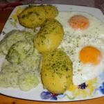 Młode ziemniaki, jajka...