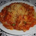 Spaghetti z ostrym sosem...