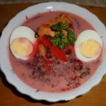 Wiosenna zupa z botwinki.