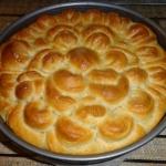 Wiosenny pszenny chleb.