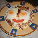 Śniadaniowy ludek.