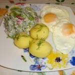 Sadzone jajka, młode...