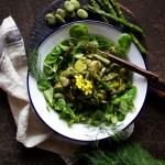 Salatka z bobem i zielony...
