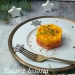 Tatar z łososia z mango