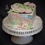 Tort z kwiatami...