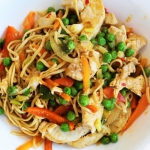 Chicken noodle stir-fry...