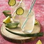 Domowy sok z aloesu.