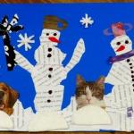 Zimowe prace plastyczne...