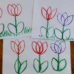 Tulipany stemplowane...