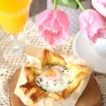 Zapiekane jajka w...
