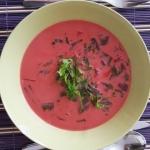 Zupa z botwinki i kokosa