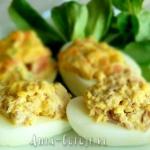 Jajka faszerowane z...