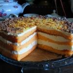 Brzoskwiniowy tort ze...