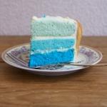 Niebieski tort z masą...