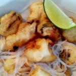 Owoce morza w tempurze