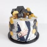 Tort orzechowy z kremem...