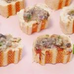 Mini bagietki z grzybami