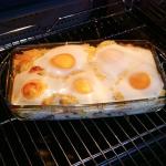 Zapiekanka z jajkiem...