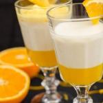 Panna cotta pomarańczowa