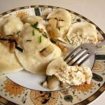 Pierogi z kaszą i serem