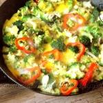 Omlet z brokulem