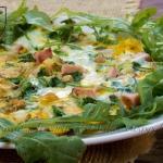 Omlet z rukola i szynka