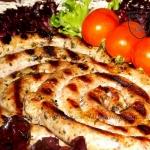 Biała kiełbasa z grilla