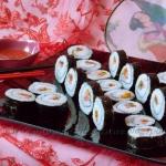Sushi z podwędzanym...