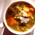 Zielona zupa rybna