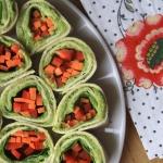 Wrapy warzywne z pastą...