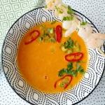 Zupa z pieczonej papryki...