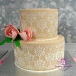 Elegancki tort weselny
