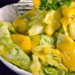 Sałata z sosem mango...