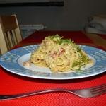 54. Spaghetti carbonara