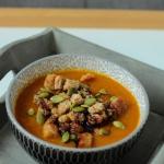 Zupa krem z dyni z grzank...