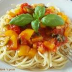 Wegetarianskie spaghetti